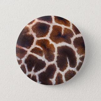 Look of Africa Giraffe Skin Effect Pinback Button