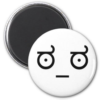 Look of Disapproval. 2 Inch Round Magnet