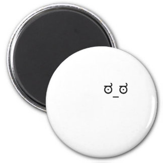 look of disapproval 2 inch round magnet