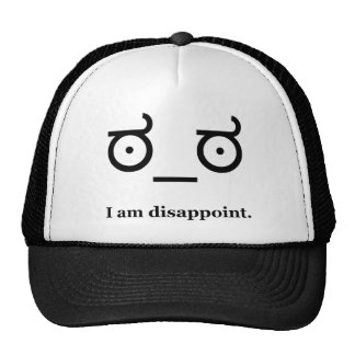 Look of Disapproval Disappoint Hats