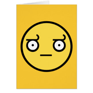 Look of Disapproval Smiley Face Card