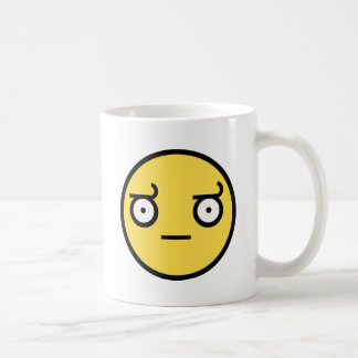 Look of Disapproval Smiley Face Coffee Mug