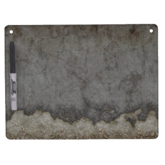 Look of Rusty Gray Metal Dry Erase Board With Keychain Holder