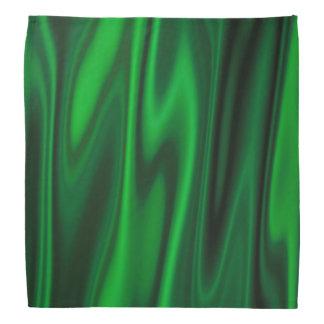 Look of Smooth 0f Emerald Green Satin Fabric Bandana