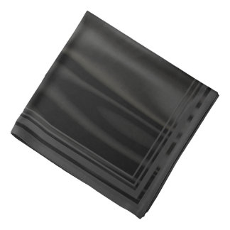 Look of Smooth Black Satin Fabric in Folds Bandana