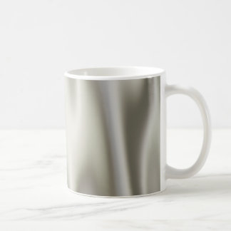 Look of Smooth Gray Satin Fabric in Folds Coffee Mug