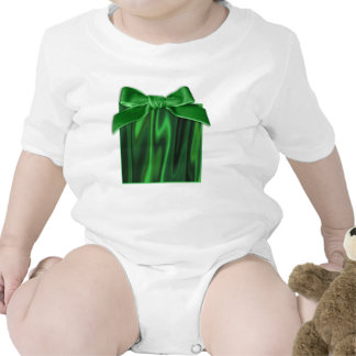 Look of Smooth of Emerald Green Satin Fabric Baby Bodysuit