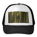 Look of Smooth Olive Green Satin Fabric Mesh Hats