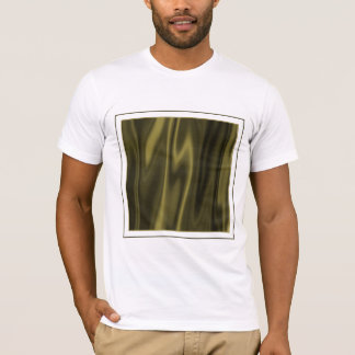 Look of Smooth Olive Green Satin Fabric T-Shirt