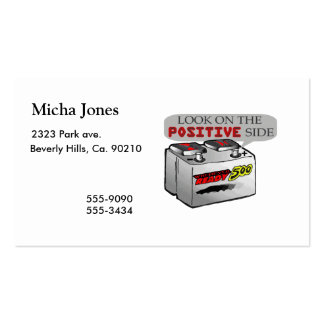Look On Positive Side Business Card