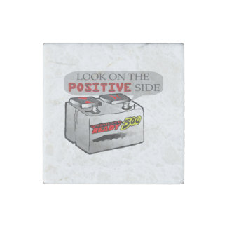 Look On Positive Side Funny Stone Magnet