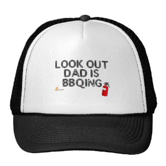 Look Out, Dad's BBQing Trucker Hat