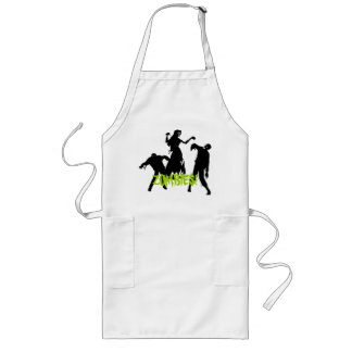Look Out For Zombies Long Apron
