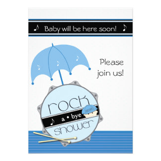 Look out world here I drum BabyShower invitation