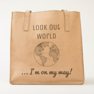 Look Out World Tote