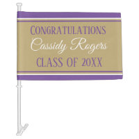Look! Personalized graduation car flag