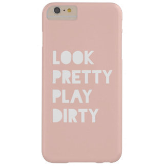 Look Pretty Funny Quotes Blush Pink Barely There iPhone 6 Plus Case