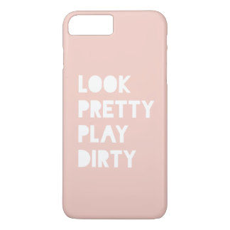 Look Pretty Funny Quotes Blush Pink iPhone 7 Plus Case