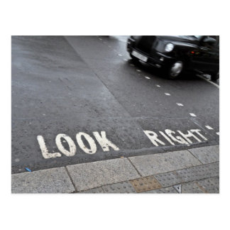 Look Right London street view Postcard