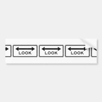 Look Sign Bumper Sticker