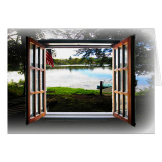 Look through the window stationery note card