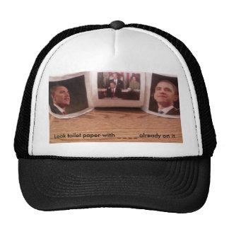 Look toilet paper with _ _ _ _ alread... trucker hat