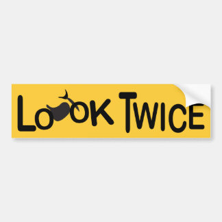Look Twice for Motorcycles Bumper Stickers