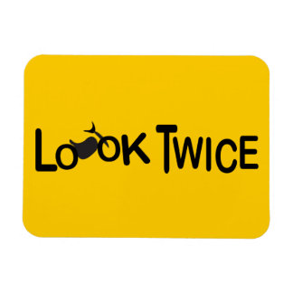 Look Twice for Motorcycles Rectangular Photo Magnet