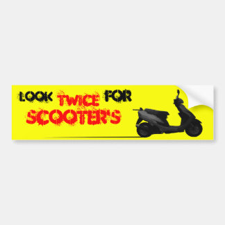 Look twice for scooters bumper stickers