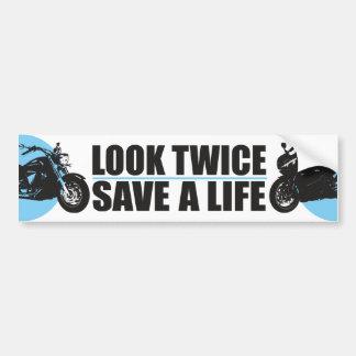 Look Twice, Save A Life Car Bumper Sticker