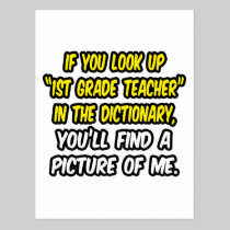 Look Up 1st Grade Teacher In Dictionary...Me Postcard