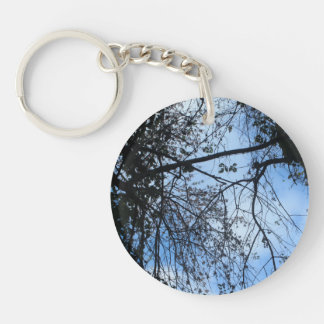 Look Up - Blue Keychain