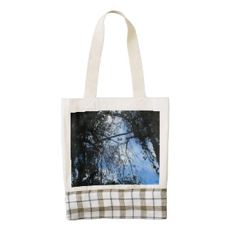 Look Up - Blue Zazzle HEART Tote Bag