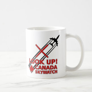 Look Up Canada Sky Watch Black Chemtrail Plane Coffee Mug