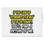 Look Up Economics Teacher In Dictionary...Me Cards