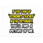 Look Up Economics Teacher In Dictionary...Me Post Card