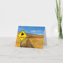 Look Up - Flying Pig Sign Note Card