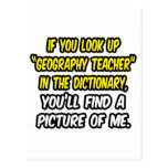 Look Up Geography Teacher In Dictionary...Me Postcard