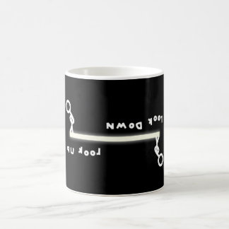 Look up vs look down (& the stick men) coffee mug
