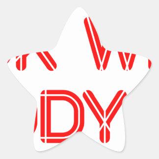 look-what-daddy-did-SO-RED.png Pegatina En Forma De Estrella