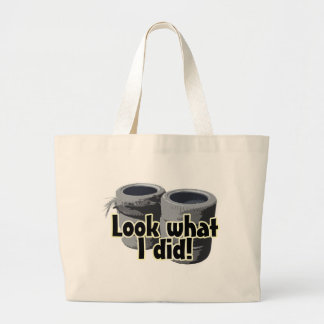 Look What I Did Large Tote Bag