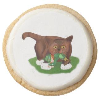 Look What I Found Meows Kitten Round Shortbread Cookie