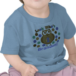Look Who s 1 Owl First Birthday Shirt