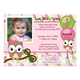 Look Whoo s Turning OWL birthday invitation photo