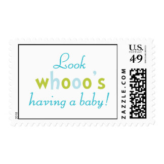 Look whooo's having a baby stamps
