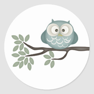 Look Whooo's Having A Baby {Teal} | Stickers