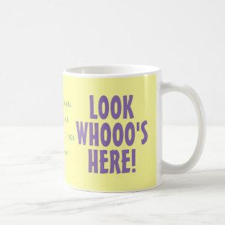 Look Whooo's Here! - Personalized Pastel Owl Mug