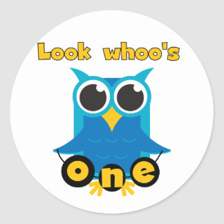 Look Whoo's 1 Tshirts and Gifts Classic Round Sticker