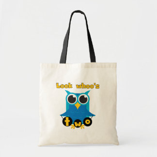 Look Whoo's 2 Birthday Tshirts and Gifts Tote Bag