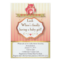 Look Whoo's Finally Having A Baby Girl! Card